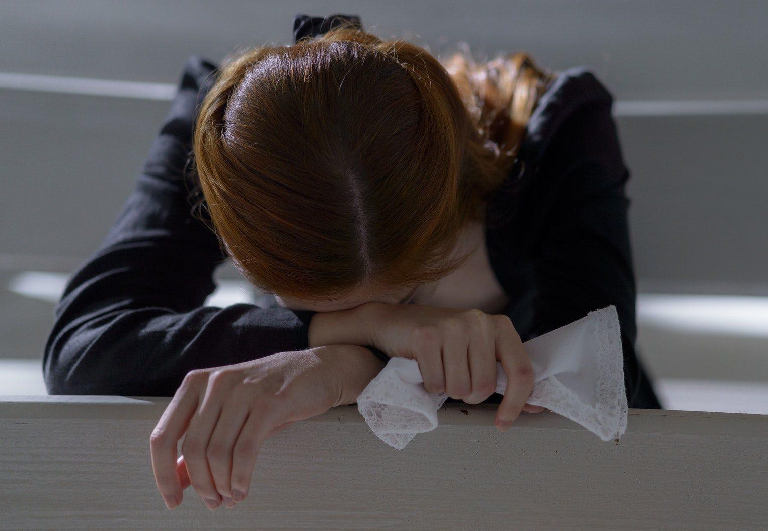 Emotional Regulation. Female crying and overwhelmed